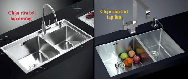 Lựa chọn chậu rửa lắp âm hay chậu rửa lắp âm cho căn bếp gia đình bạn