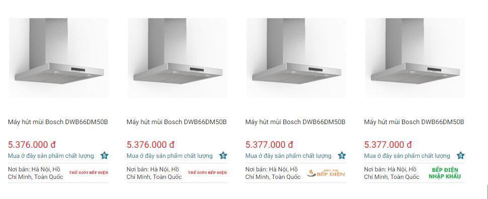 Giá máy hút mùiBosch DWB66DM50B trên websosanh