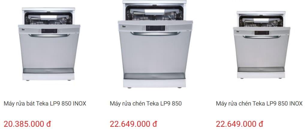 So sánh giá máy rửa bát teka trên websosanh