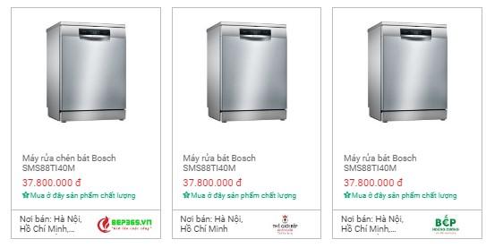 So sánh máy rửa bát âm toàn phần Bosch serie 6 và serie 8