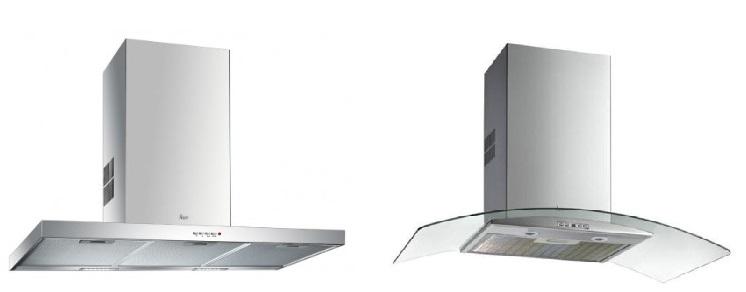 Bên trái là hút mùiTEKA DSJ 750 và bên phải làTEKA NV 780