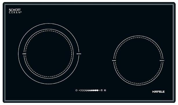 Hình ảnh bếp từ 2 vùng nấu Hafele HC-M772B 536.01.815