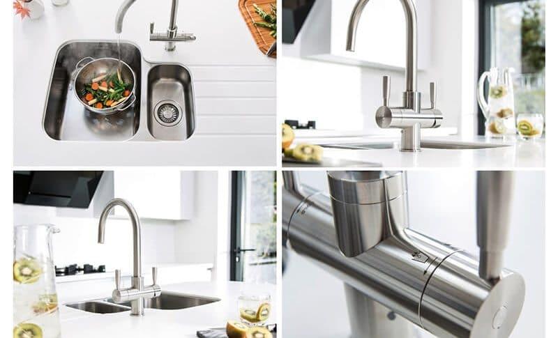 Vòi rửa mang đến nguồn nước sạch và tiện lợi cho gian bếp