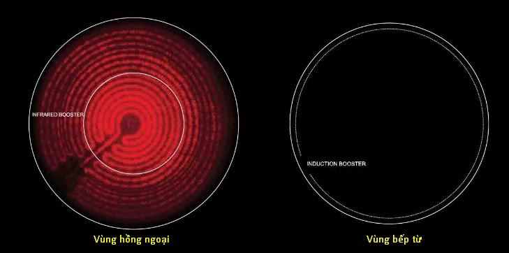 Hình ảnh thể hiện sự khác biệt giữa vùng từ và vùng hồng ngoại