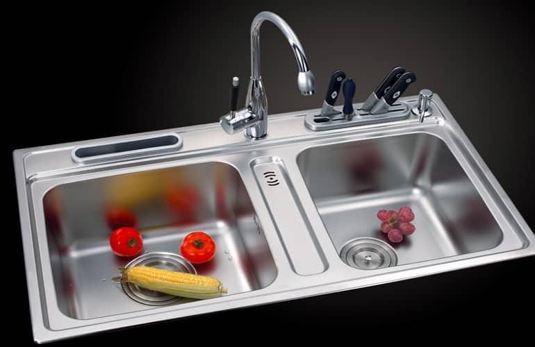 Chậu rửa, vòi rửa mang đến sự tiện lợi vô cùng trong nhà bếp