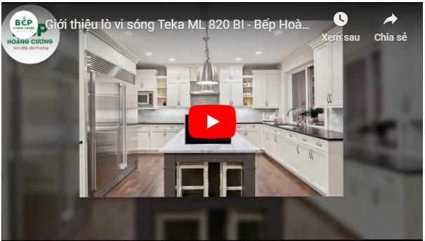 Video giới thiệu lò vi sóngTEKA ML 820 BI