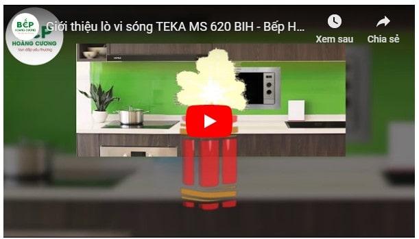 Giới thiệu tổng quan lò vi sóngTEKA MS 620 BIH