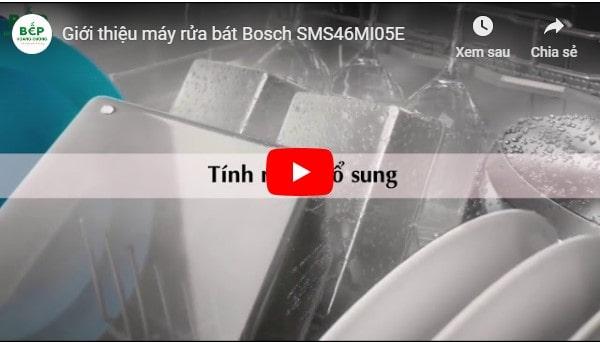 Clip giới thiệu máy rửa bát Bosch SMS46MI05E