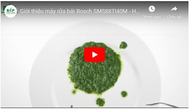 Video giới thiệu máy rửa bát BOSCH SMS88TI40M