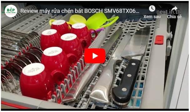 Video giới thiệu máy rửa bát âm tủ toàn phầnBosch SMV68TX06E