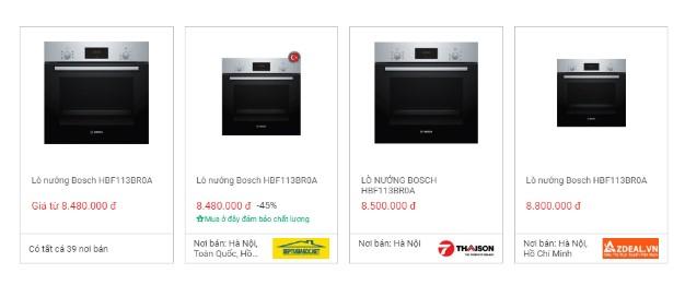 Giá lò nướng Bosch HBF113BR0A trên websosanh