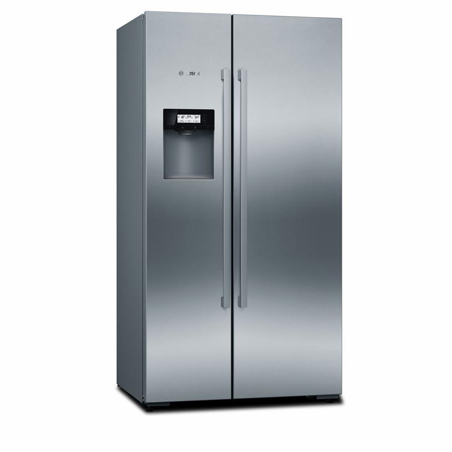 Tủ lạnh side by side Bosch KAD92HI31có màu Inox sang trọng, bề mặt chống bám vân tay và tránh trầy xước