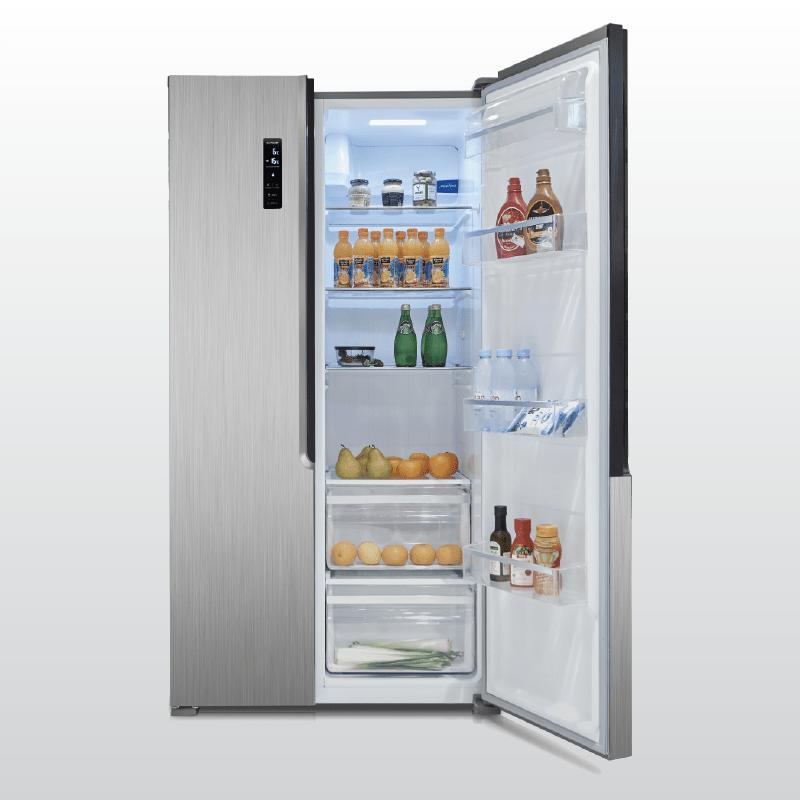 Tủ lạnh Side by Side Malloca MF-517SBS phù hợp với những gia đình đông thành viên bởi dung tích lớn lên tới517l